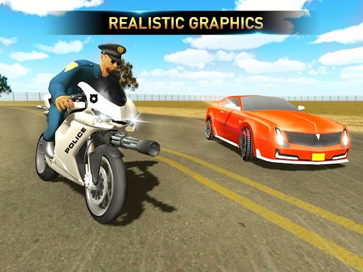 Police Bike Shooting - Gangster Chase Car Shooter screenshot 2