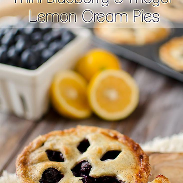 Mini Blueberry & Meyer Lemon Cream Pies Recipe   Yummly
