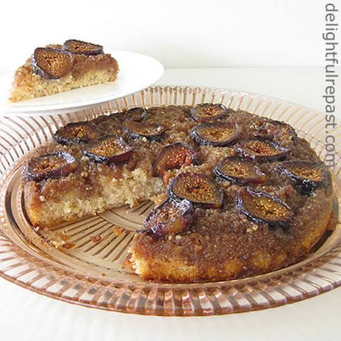 Fig Almond Upside-Down Cake