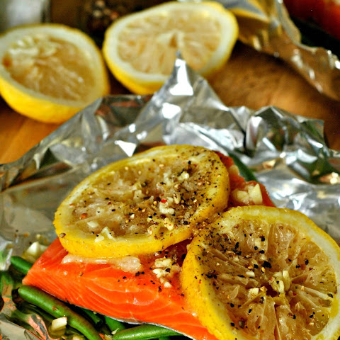 Foil Packet Lemon Salmon