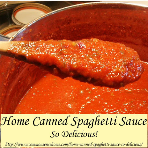 Home Canned Spaghetti Sauce
