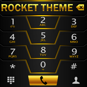 Theme Darkcity Gold Rocketdial APK Cracked Download