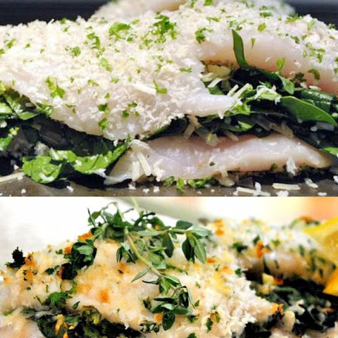 Tilapia Stuffed with Spinach and Shallots