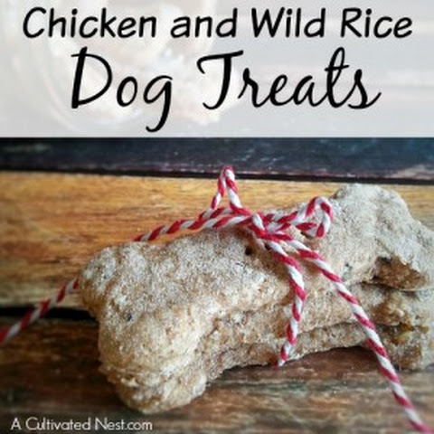 Homemade Chicken and Wild Rice Dog Treats