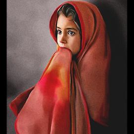Lonely girl by Kamran Khan - Digital Art People ( portraiture, girls, fashion, art, artistic, kids, portraits, painting, artwork, portrait, photoshop )