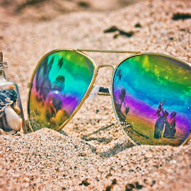 summer summer by Wendy Berning - Artistic Objects Glass ( #shells, #color, #sun, #shades, #summer )