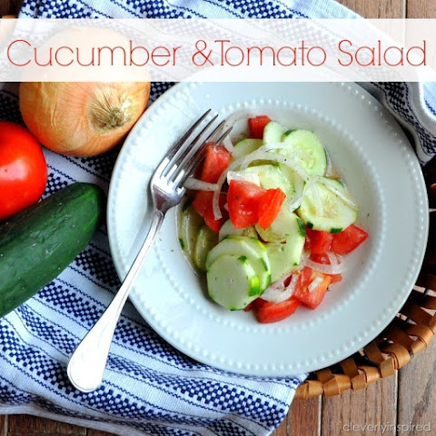 Easy Cucumber Tomato Salad