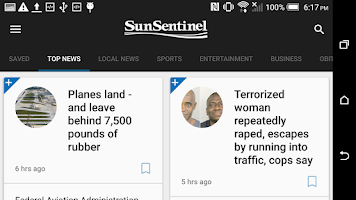 Screenshot of Sun Sentinel