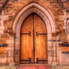 Church Doors by Steven McGregor - Buildings & Architecture Places of Worship ( church doors )