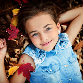 Fall Daydreams by Melissa Papaj - Babies & Children Child Portraits ( child, girl, female, aiutumn, fall, children )