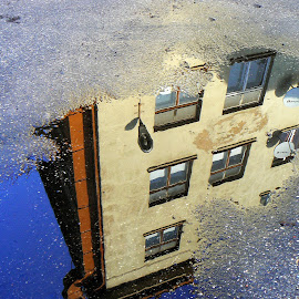 reflection by Vygintas Domanskis - City,  Street & Park  Historic Districts ( reflection, kaunas, lithuania, cityscape, city,  )