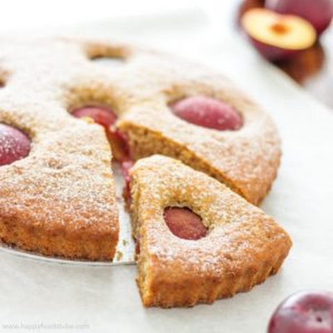 Plum Tart with Ricotta Cheese & Greek Yogurt