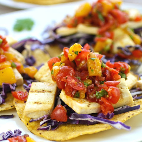 Grilled Tofu with Tomato-Mango Salsa