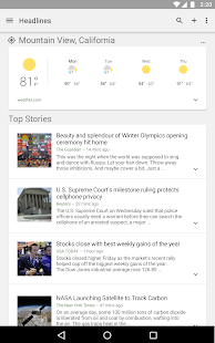 Google News & Weather APK for Nokia