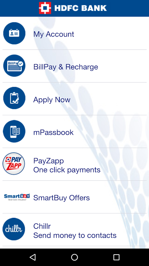 HDFC Bank MobileBanking Screenshot 1