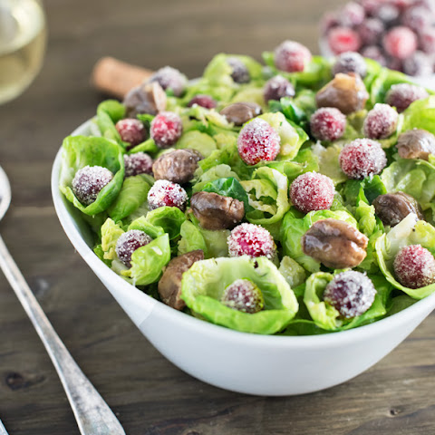 CANDY CRANBERRY BRUSSELS SPROUTS PETAL SALAD