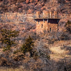 Dam Tower by Jim Hendrickson - Novices Only Landscapes ( tower, winter, oklahoma, dam, landscape )