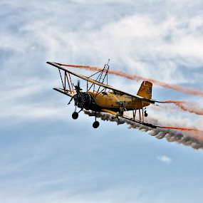 wing walking by Kenneth Pettersen - Transportation Airplanes ( walking, wing, nordland, bodø, norway, airshow )