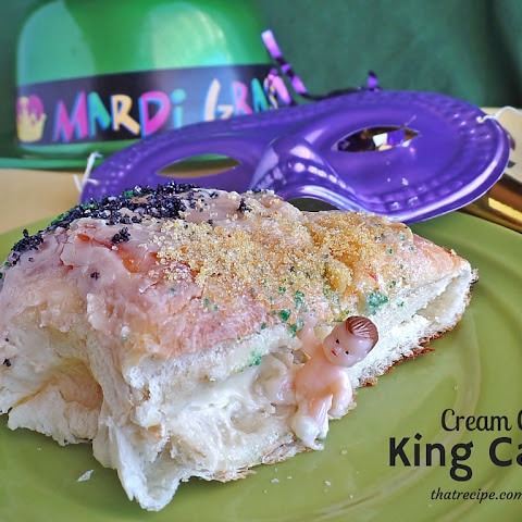 Cream Cheese Filled King Cake