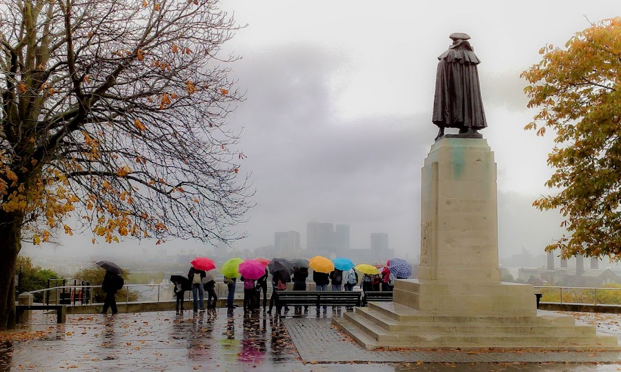 Rain at Greenwich Observatory by Phil Clarkstone - Travel Locations Landmarks