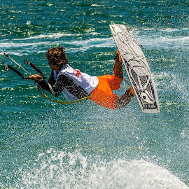 KiteSurfing in Mexico by John Pounder - Sports & Fitness Watersports ( mexico, kite, contest, air, surf )