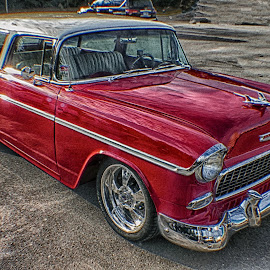 Chevy Wagon by Dave Walters - Transportation Automobiles ( classic cars, colors, cruisin the coast 2017, transportation, lumix fz2500 )