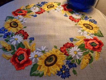 Как утюжить готовую вышивку