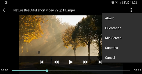 Videoplayer Screenshot