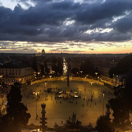 Rome by Bianca Enache - City,  Street & Park  Street Scenes ( clouds, sky, rome, sunset, piazza, italy )
