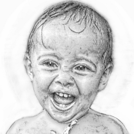 Bro's Angel by John Cuthbert - Drawing All Drawing ( love, life, girl, family, daughter, brother, cute, offspring )