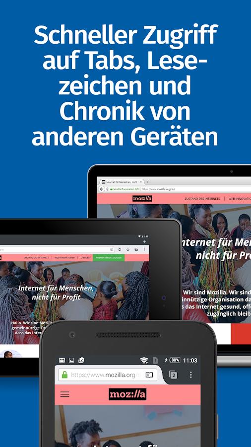 Firefox: privat+sicher surfen – Screenshot