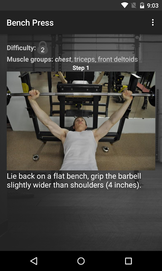 WinGym Exercises Premium Screenshot 2