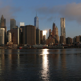 Panoramic View Of Manhattan by VAM Photography - City,  Street & Park  Skylines ( exterior, architecture, places, nyc, panoramic,  )