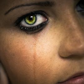 Silent Pain by Lee Morest - People Portraits of Women ( face, woman, artistic, portrait, eye )