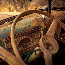 Abandoned Chevrolet Dashboard by David Ewing - Transportation Automobiles