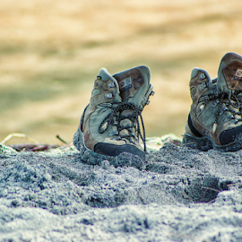 Shoes into the Sand by William Ay-Ay - Artistic Objects Still Life