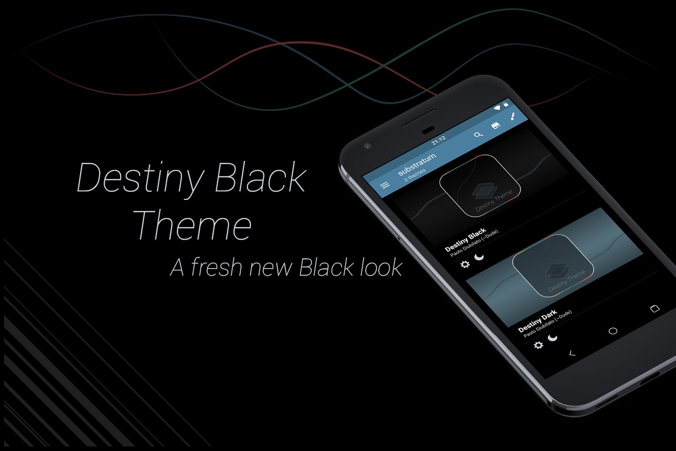 Substratum DestinyBlack Theme Screenshot 0