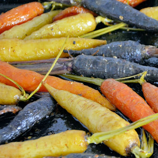 Tri-Colored Carrots with Herbed Yogurt