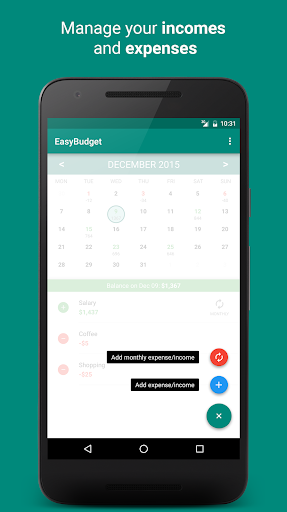 EasyBudget - screenshot