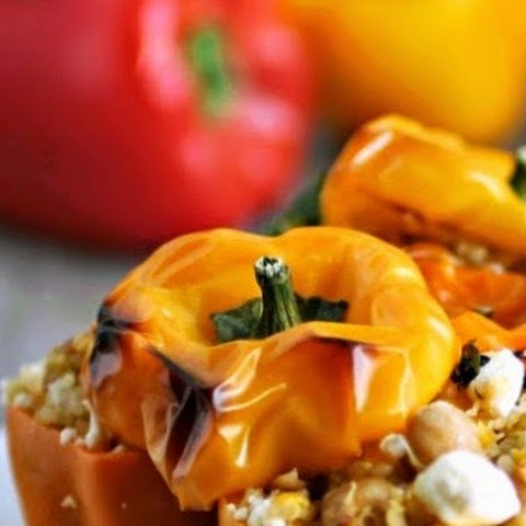 Quinoa and Feta Stuffed Baby Bell Peppers