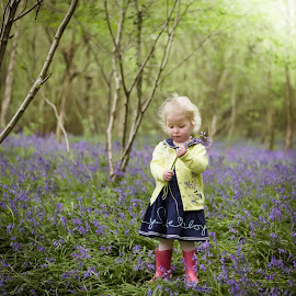 Into the bluebells by Vix Paine - Babies & Children Child Portraits ( colour, forest, flowers, toddler, bluebell, woods, sunflare, trees, bluebells,  )
