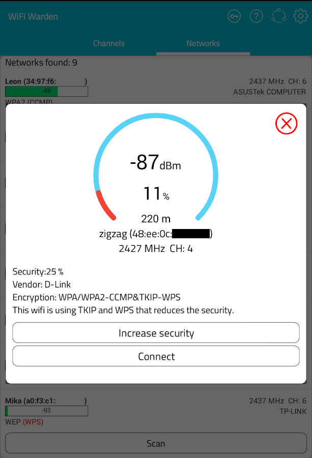 WiFi Warden ( WPS Connect ) Screenshot 11