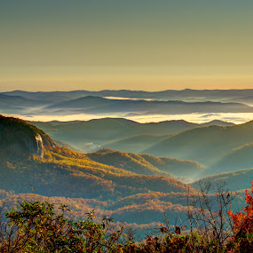 Blue Ridge Mountains by Serge Skiba - Landscapes Mountains & Hills ( blue ridge mountains, blue ridge parkway, north carolina )