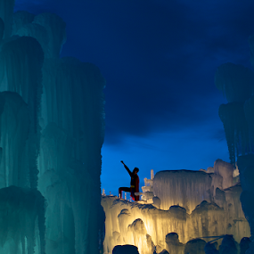 Sunset at Ice Castles by Heather Diamond - Buildings & Architecture Other Exteriors