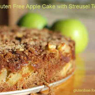 Gluten Free Apple Cake with Streusel Topping