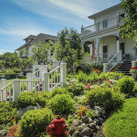 Mackinac Island  by Kathryn Potempski - Buildings & Architecture Homes ( mackinac island, colour, michigan, trees, forest, view, seascape, travel, landscape, the lake district )