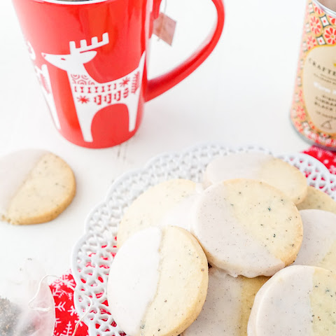 Cinnamon Black Tea Shortbread Cookies