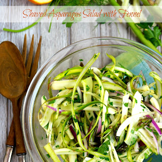 Shaved Asparagus Salad with Fennel