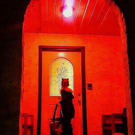 Halloween by Natasha Lena - Babies & Children Children Candids ( red, night photography, alberta, trick or treat, halloween )