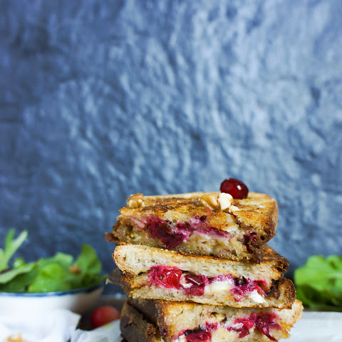 BRIE, CRANBERRY & WALNUT grilled cheese sandwich